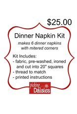 Picking Daisies Dinner Napkin Kit with Fabric of YOUR CHOICE! and Thread