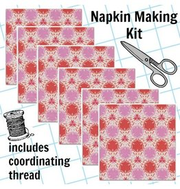 Picking Daisies Dinner Napkin Kit: Noel, Kaleidescope in Red Christmas