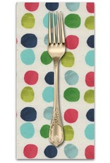 Picking Daisies Dinner Napkin Kit: Noel, Painted Dots in Blue