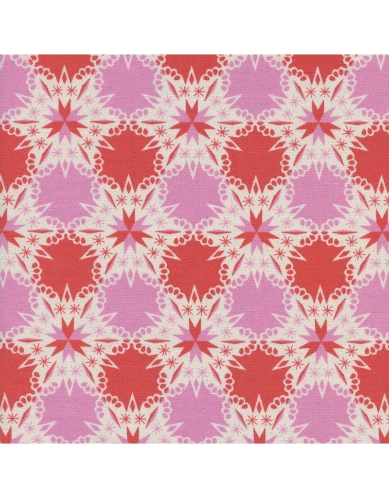 Cotton + Steel Noel, Kaleidescope in Red, Fabric Half-Yards