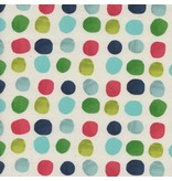 Cotton + Steel Noel, Painted Dots in Blue, Fabric Half-Yards