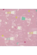 Cotton + Steel Noel, Angels Singing in Pink, Fabric Half-Yards