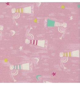Cotton + Steel Noel, Angels Singing in Pink Christmas, Fabric Half-Yards