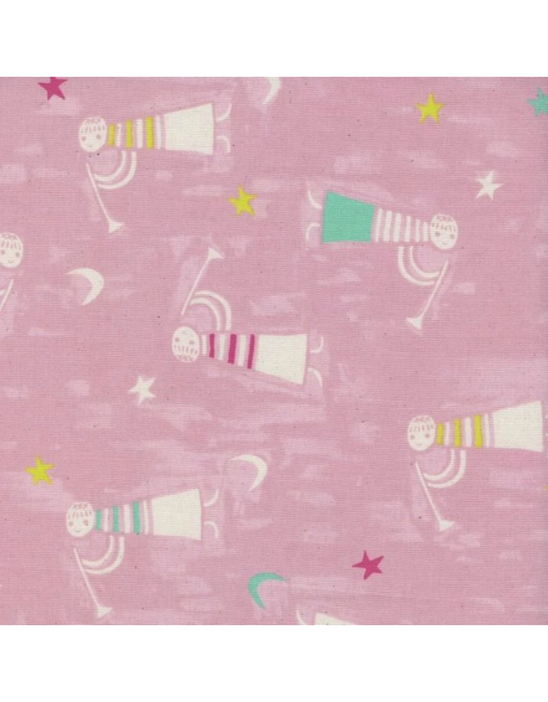 Cotton + Steel Noel, Angels Singing in Pink Christmas, Fabric Half-Yards