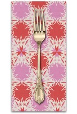 PD's Cotton + Steel Collection Noel, Kaleidescope in Red Christmas, Dinner Napkin
