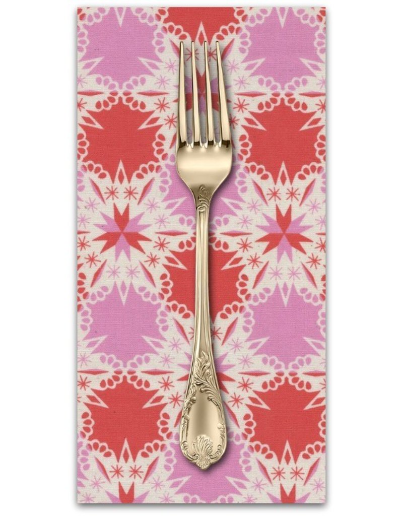 PD's Cotton + Steel Collection Noel, Kaleidescope in Red, Dinner Napkin