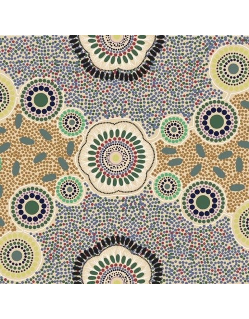 PD's Australian Aboriginal Collection Australian Aboriginal, Meeting Places in Ecru, Dinner Napkin