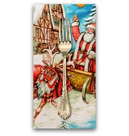 PD's Michael Miller Collection Christmas, Old World Santa in Multi, Dinner Napkin