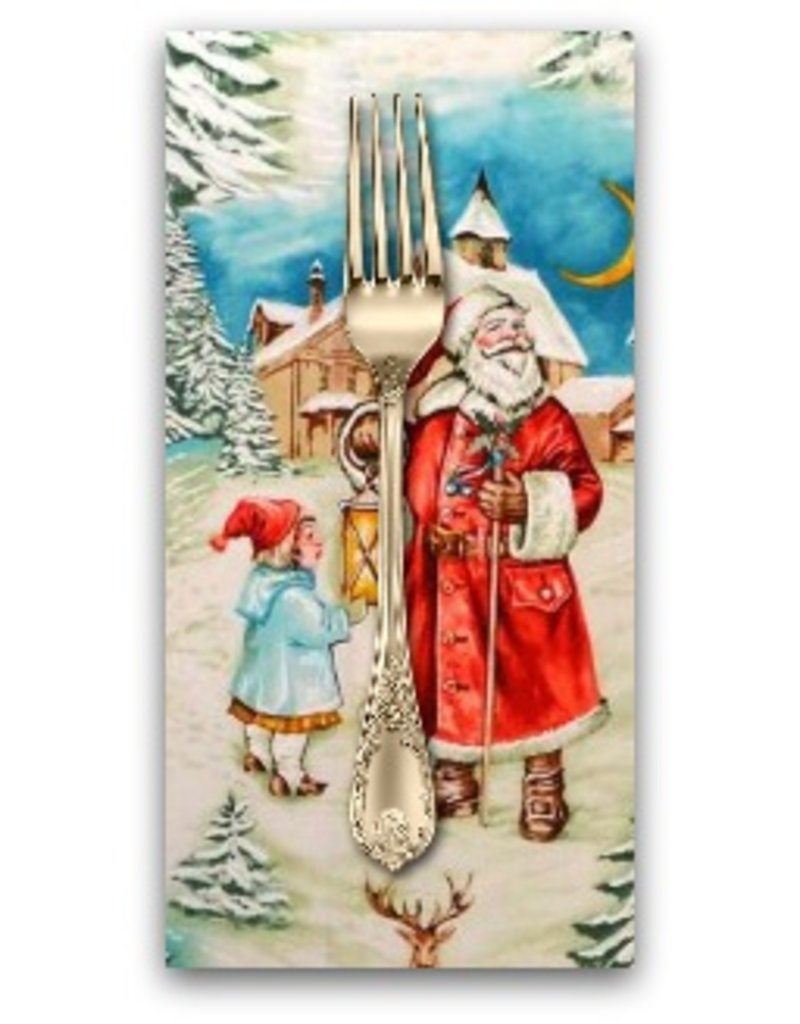PD's Michael Miller Collection Christmas, Old World Santa in Multi, Dinner Napkin