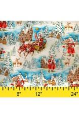 Michael Miller Christmas, Old World Santa in Multi, Fabric Half-Yards