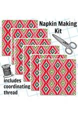Picking Daisies Dinner Napkin Kit: Llama Navidad, Felicia in Red
