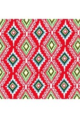 PD's Michael Miller Collection Llama Navidad, Felicia in Christmas Red, Dinner Napkin
