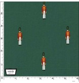 Michael Miller Nutcracker Act I, Toy Soliders in Hunter with Metallic, Fabric Half-Yards