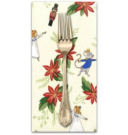 PD's Michael Miller Collection Nutcracker Act I, Nutcracker Christmas Floral in Cream, Dinner Napkin