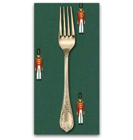 PD's Michael Miller Collection Nutcracker Act I, Christmas Toy Soliders in Hunter, Dinner Napkin