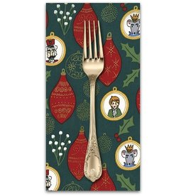 PD's Michael Miller Collection Nutcracker Act I, Ornaments in Hunter, Dinner Napkin