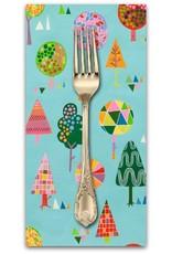Picking Daisies Dinner Napkin Kit: Monkey's Bizness, Magic Trees in Turquoise