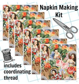 Picking Daisies Dinner Napkin Kit: Folklorico, Las Senoritas in Bright