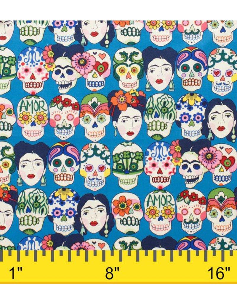 Alexander Henry Fabrics Folklorico, Gotas de Amor in Royal, Fabric Half-Yards