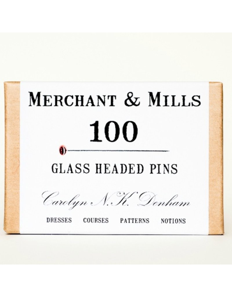 Merchant & Mills Glass Head Pins, 100ct. from Merchant & Mills, England