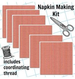 Picking Daisies Dinner Napkin Kit: Home Grown Triple Stripe in Red