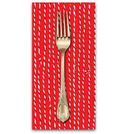 PD's Marcus Fabrics Collection Green and Red, Christmas Twine in Red, Dinner Napkin