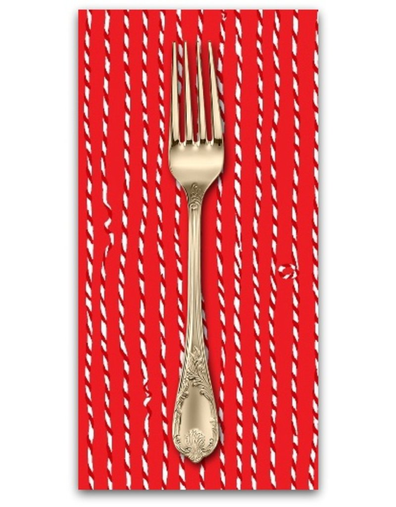 Picking Daisies Dinner Napkin Kit: Green and Red Christmas Twine