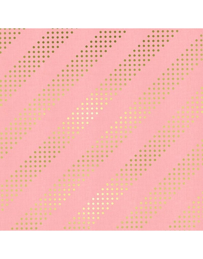 Cotton + Steel Dottie in Cotton Candy with Metallic, Fabric Half-Yards