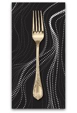 PD's Australian Aboriginal Collection Australian Aboriginal, Sand Hills in Charcoal, Dinner Napkin