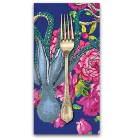 PD's TokyoMilk Collection Neptune and the Mermaid, Neptune's Neverland in Navy, Dinner Napkin