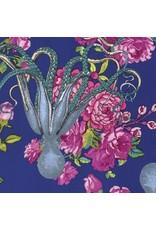 TokyoMilk Neptune and the Mermaid, Neptune's Neverland in Navy, Fabric Half-Yards