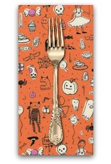 Picking Daisies Dinner Napkin Kit: Lil' Monsters, Party in Orange