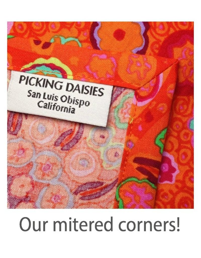 PD's Cotton + Steel Collection Lil' Monsters, Party in Orange, Dinner Napkin