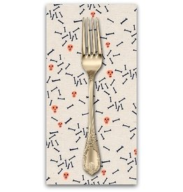 PD's Cotton + Steel Collection Lil' Monsters, Sugar in Natural, Dinner Napkin