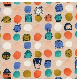 Cotton + Steel Lil' Monsters, Dress Up in Peach, Fabric Half-Yards