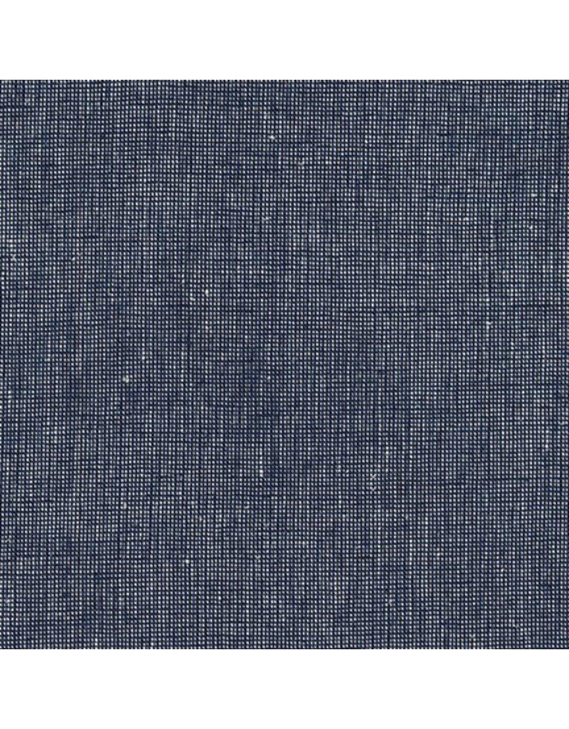 Robert Kaufman Linen Essex Yarn Dyed Homespun in Navy, Fabric Half-Yards