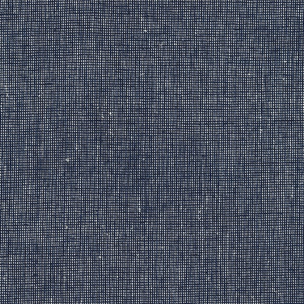 Robert Kaufman Linen Essex Yarn Dyed Homespun in Navy, Fabric Half-Yards