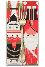 PD's Alexander Henry Collection Christmas Time, Nutcracker Sweet in Red, Dinner Napkin