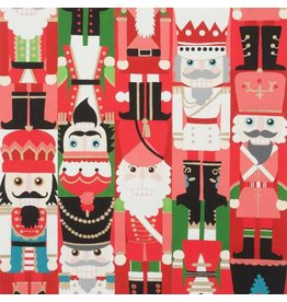 Alexander Henry Fabrics Christmas Time, Nutcracker Sweet in Red, Fabric Half-Yards