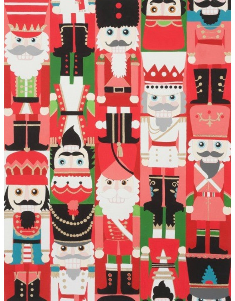 Alexander Henry Fabrics Christmas Time, Nutcracker Sweet in Red, Fabric Half-Yards