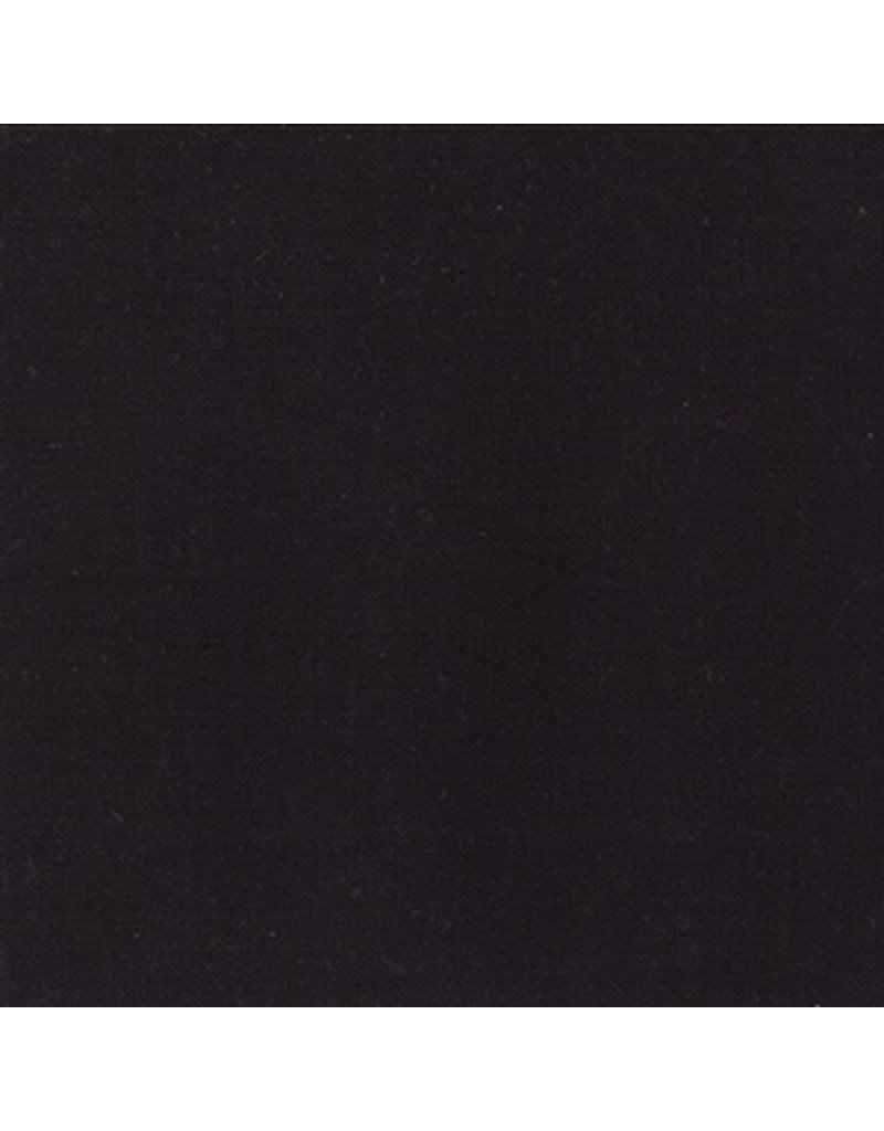 Moda Linen Mochi Solid in Black, Fabric Half-Yards