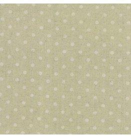 Moda Linen Mochi Dot in Sand, Fabric Half-Yards