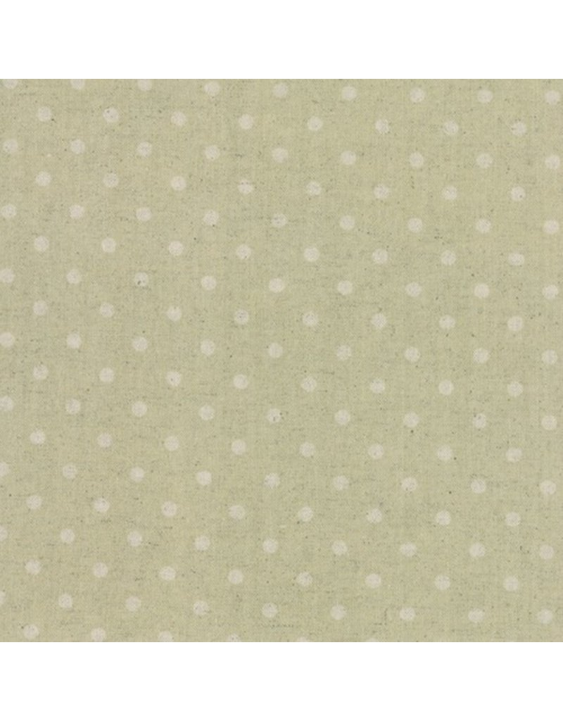 Moda Linen Mochi Dot in Sand, Fabric Half-Yards
