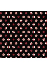 PD's Tula Pink Collection Holiday Homies, Peppermint Stars in Ink, Dinner Napkin