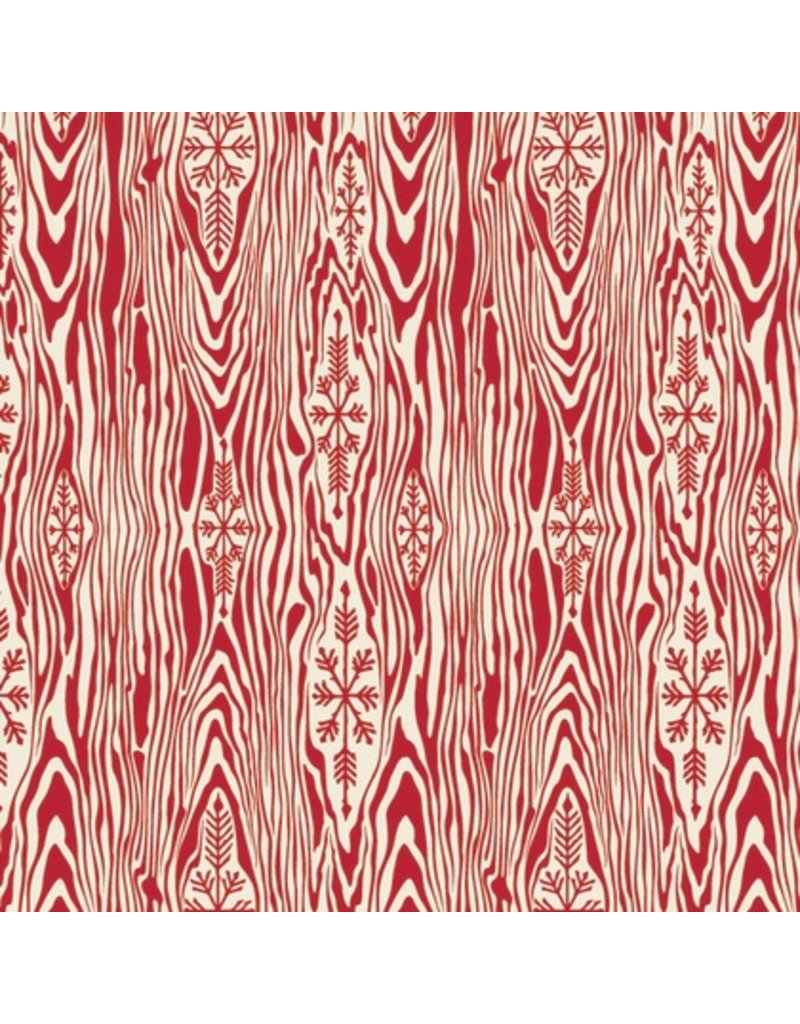 Tula Pink Holiday Homies, Yule Log in Holly Berry Christmas, Fabric Half-Yards