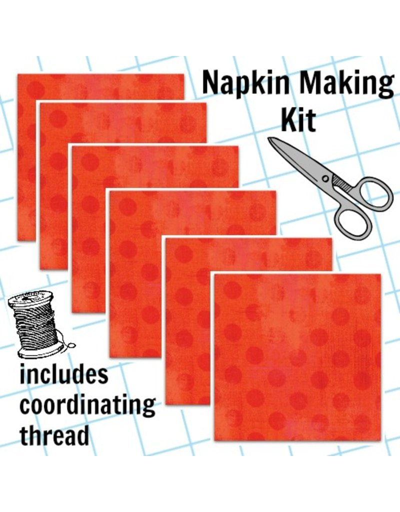 Picking Daisies Dinner Napkin Kit: Grunge Hits the Spot in Tangerine