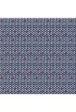 Amy Butler Cotton Poplin, Soul Mate, Power Point in Navy, Fabric Half-Yards