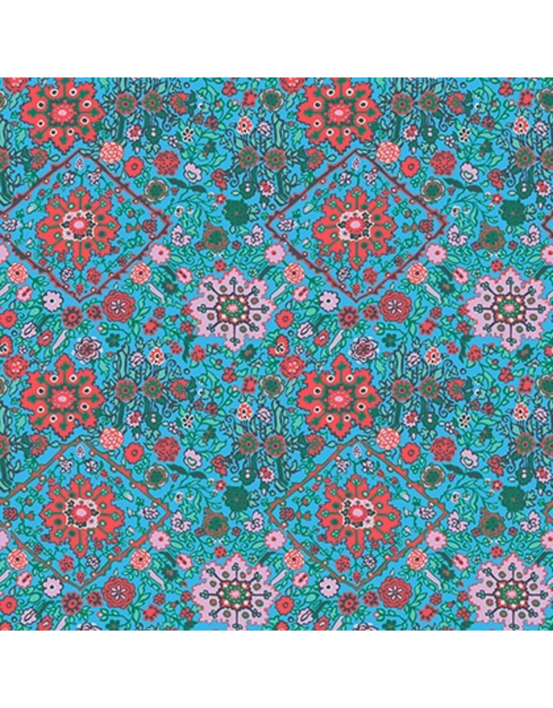 Amy Butler Cotton Poplin, Soul Mate, Inner Vision in Turquoise, Fabric Half-Yards
