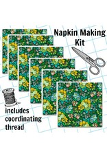 Picking Daisies Dinner Napkin Kit: Floral Retrospective, Overachiever in Forest
