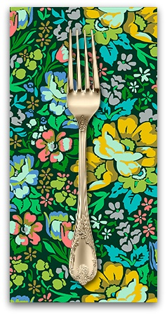 PD's Anna Maria Horner Collection Floral Retrospective, Overachiever in Forest, Dinner Napkin